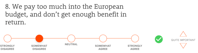 We pay too much into the European budget, and don't get enough benefit in return.