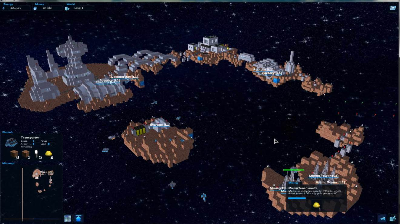 voxel asteroid bases