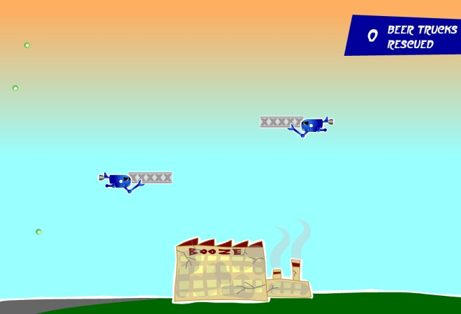 screenshot of brewery defender game
