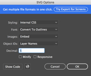illustrator svg export settings