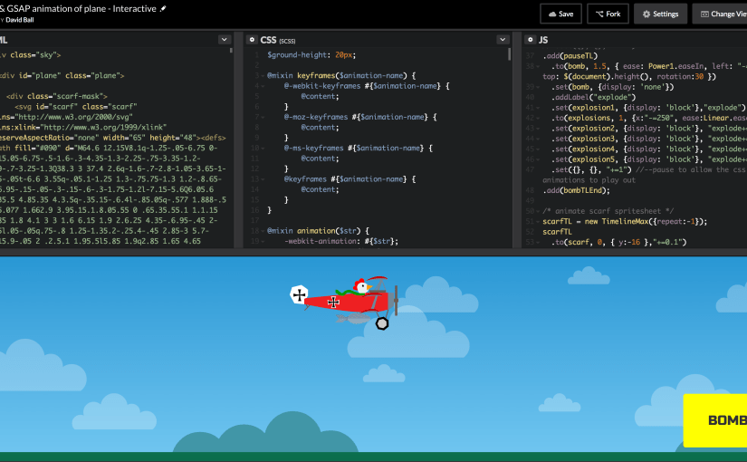 GSAP animation on codepen