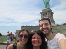 Margherita, Camilla, me, Statua