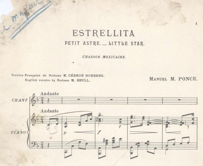 Estrellita score