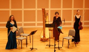 flute, harp, viola ensemble