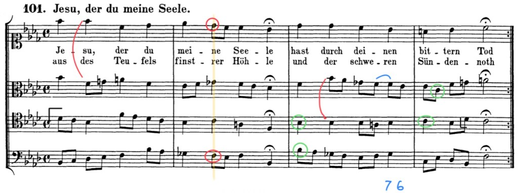 bach chorale annotated