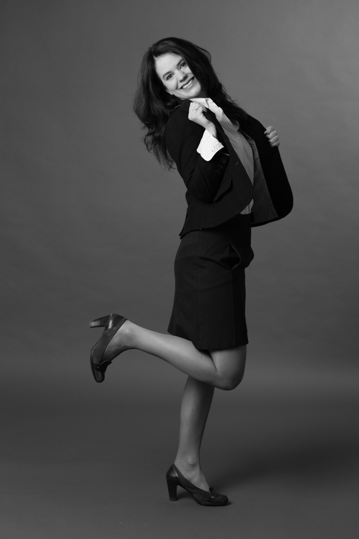 une photo en noir et blanc pour un cv