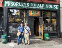Steven and David at McSorley's (photo by Bruce Applebaum)