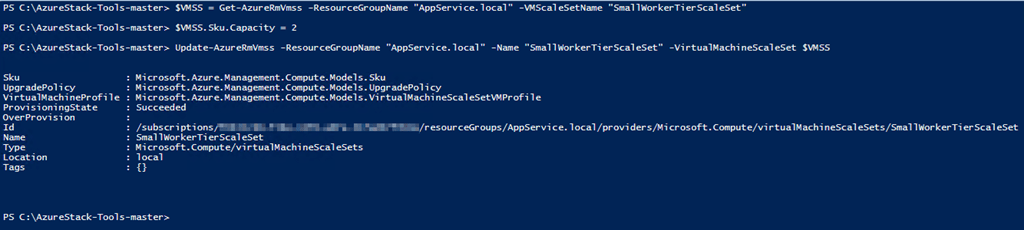 Part 2: Azure Stack – Scale up Existing App Service Worker