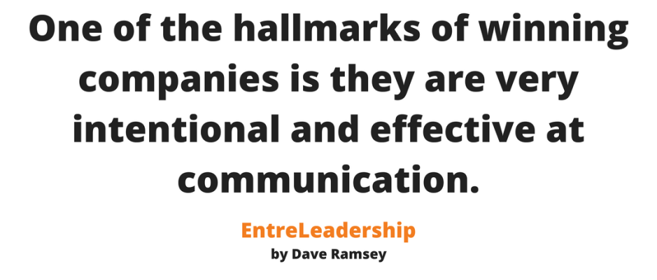 The key to leadership is effective communication