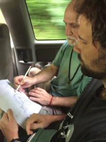 dave & gene planning the shrine design