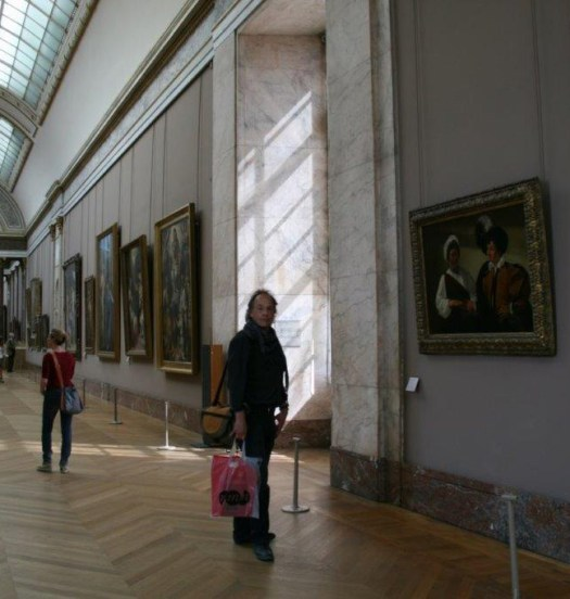 In the Louvre viewing The Fortune Teller by Caravaggio