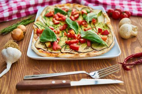 Pizza sana con comida real