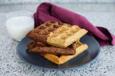Cómo Hacer Gofres de Avena   Chocolate y Vainilla