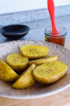 Patatas al microondas listas para comer