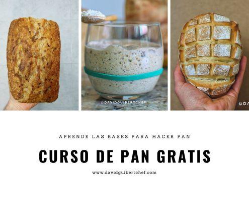 Curso gratis y online de pan casero
