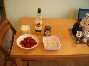 Cranachan - ingredients