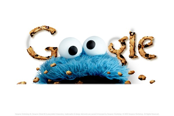 Cookie Monster Google Logo