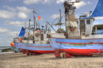 Fishing boats, Thorupstrand Northern Jutland © David Hamilton Melby high dynamic range
