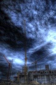 Industrial construction site, Aalborg, Northern Jutland © David Hamilton Melby high dynamic range