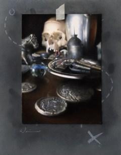 Treasures oil on Masonite 8 x 10