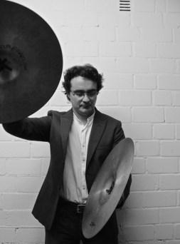 David Hernandez Deniz playing cymbals