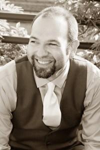 Black and white photo of Barry Lyga