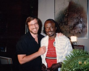 Photo of Lawrence Grobel and Miles Davis