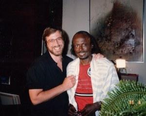 Photo of Lawrence Grobel and Miles Davis