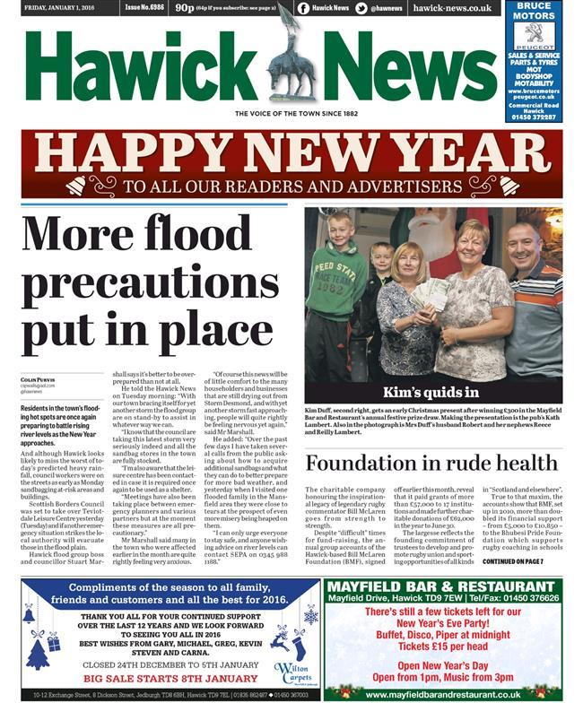floods friday hawick