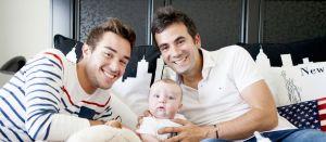 Alex Goude en famille