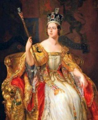 La Reine Victoria, couronnée et extatique