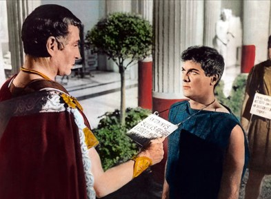 Laurence Olivier et Tony Curtis - Spartacus 1960