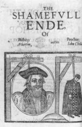John Atherton, convaincu de sodomie en 1641, pendu avec son amant John Childe.