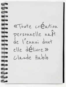 citation de Claude Habib