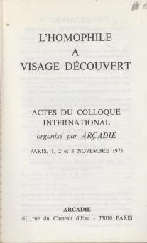 Colloque d'Arcadie