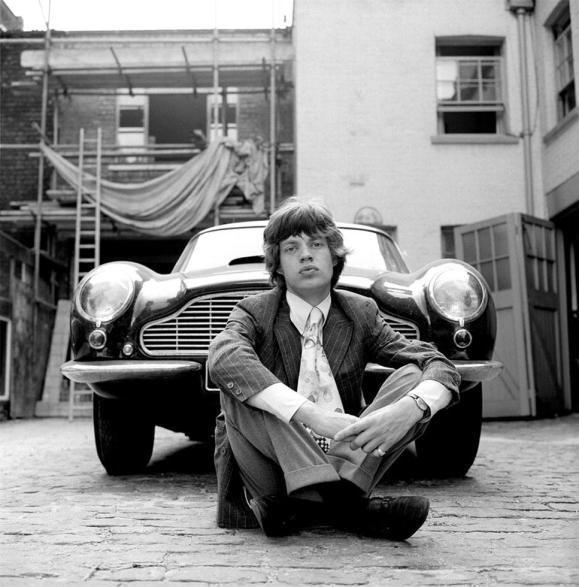 Mick and Aston Martin 1966 by Gered Mankowitz