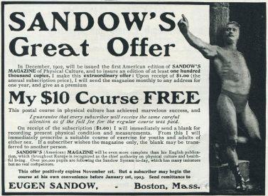 publicité pour le magazine Sandow