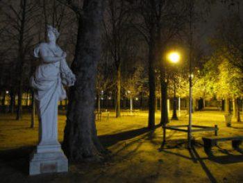 Le jardin des tuileries - la nuit