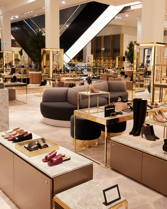 David Jones launch Level 7 shoe floor