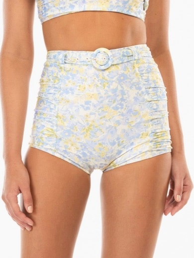 PEONY RUCHED BELTED SHORT