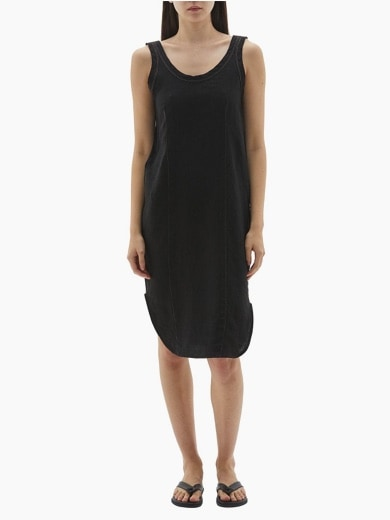 BASSIKE CONTRAST SCOOP BACK TANK DRESS