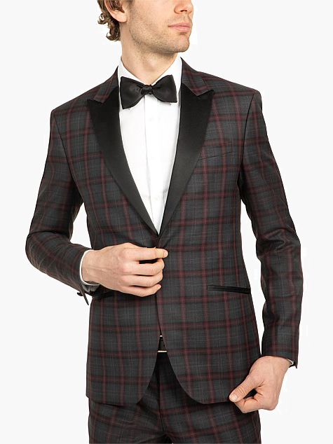 wedding suits for men check