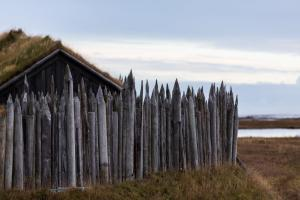 Viking village ruins in Iceland