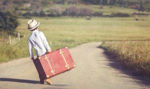 boy suitcase road - compressed