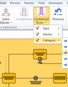 Visio introduced container shapes and this button provides  simple way to select all or the filtered contained within selected also multiple selection methods for diagrams bvisual people rh blogisual