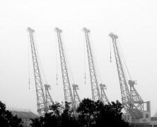 historical-industrial-cargo-cranes-in-fog