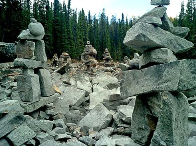 Inukshuk - Rocky Mountains Canada