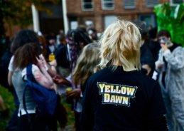 2011 -Djr - Zombie Walk wearing Yellow Dawn T-shirt