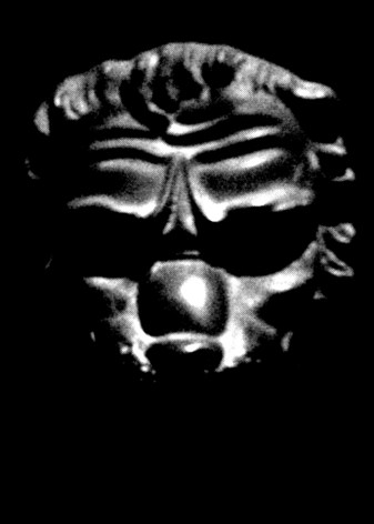 Devils Door Knocker - photo of cast iron demonic face Venice by David J Rodger