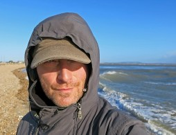 Hayling Island England David J Rodger listening to awesome electroco by Fischerspooner deserted coastline